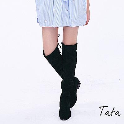 麂皮超顯瘦膝上靴 TATA