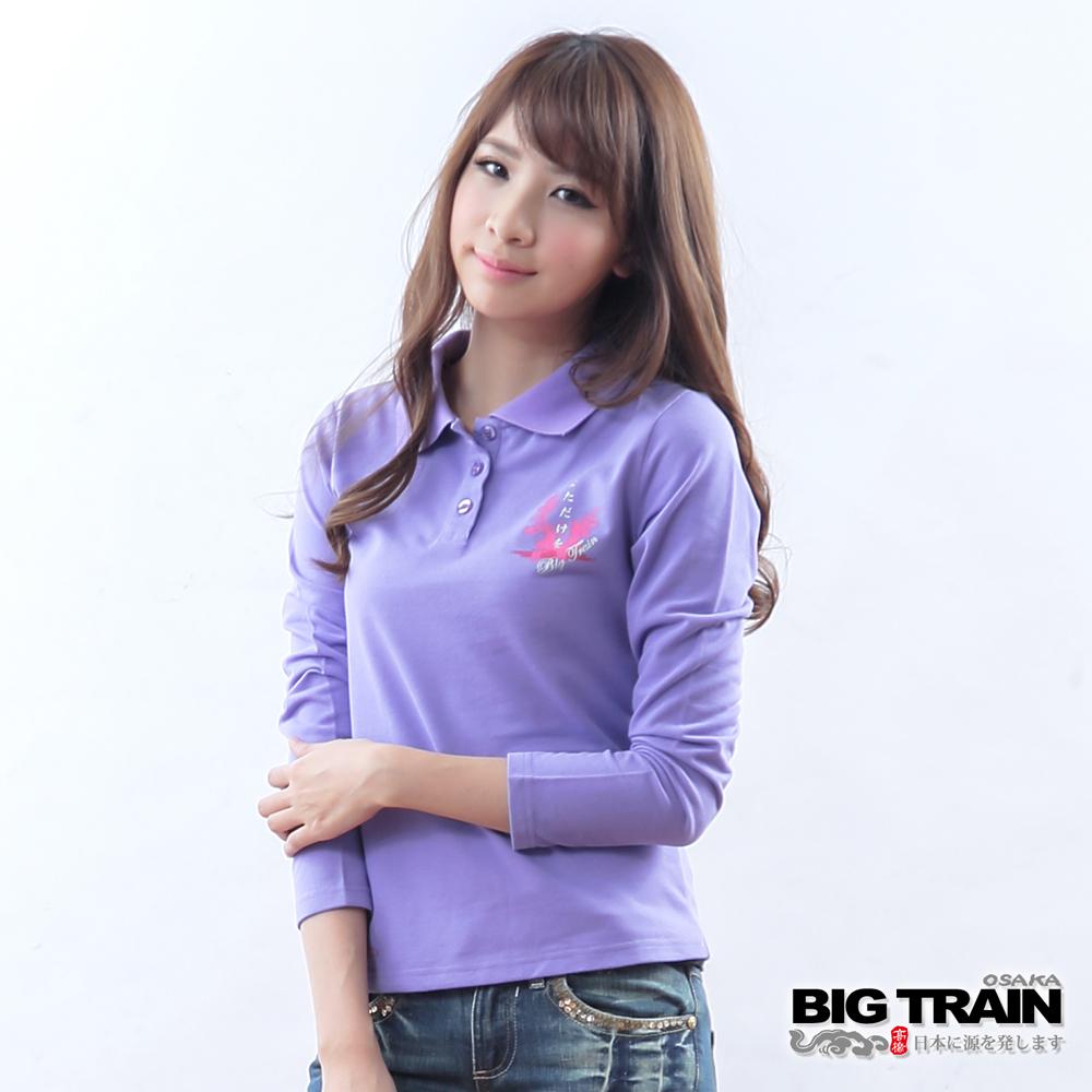 BIG TRAIN 女款 流水金魚POLO衫-淺紫