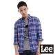Lee 長袖襯衫 條紋格子-男款(藍)
