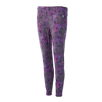 【Wildland 荒野】女彈性時尚印花內搭褲紫