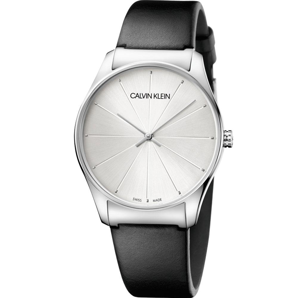 Calvin Klein Classic 經典設計款時尚錶(K4D211C6)白/38mm