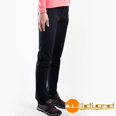Wildland 荒野 0A22303-54黑色 女 彈性直筒保暖長褲