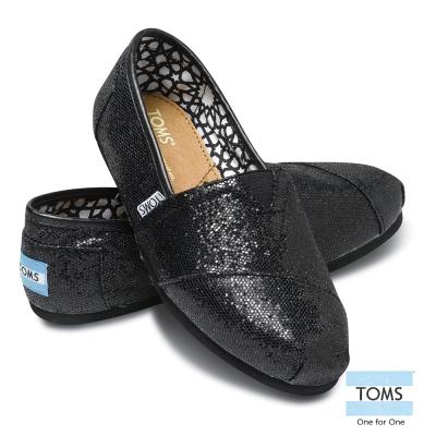 TOMS 經典亮片懶人鞋-女款(黑)