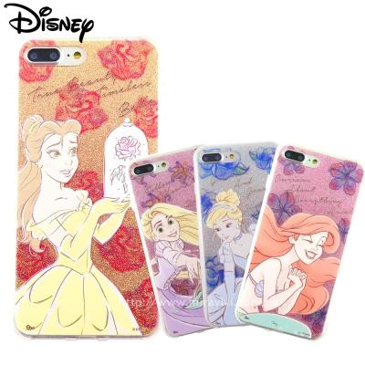 Disney迪士尼iPhone 8/7 Plus閃粉雙料保護殼-公主系列