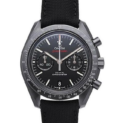 OMEGA 歐米茄 超霸系列 三眼計時黑色陶瓷尼龍腕表-44.25mm