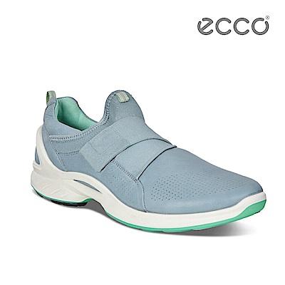 ECCO BIOM FJUEL 簡約魔鬼氈休閒運動鞋-藍