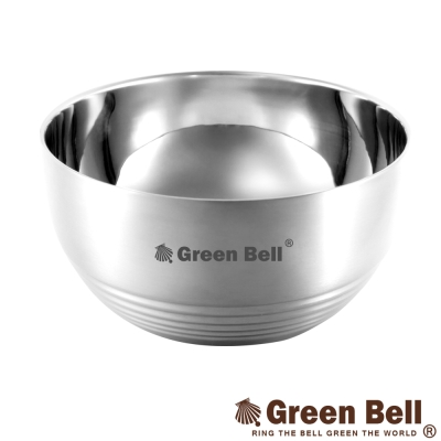 GREEN BELL綠貝 永恆316不鏽鋼雙層隔熱碗15.5cm(六入)