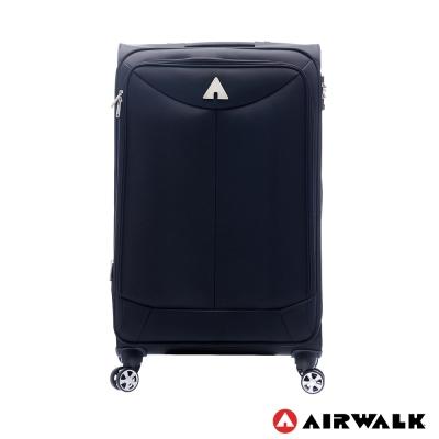 AIRWALK LUGGAGE 尊爵系列黑色的驕傲 布面拉鍊24吋行李箱 傲人黑