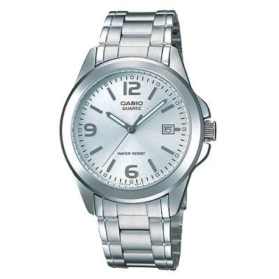 CASIO 時尚都會新風格指針錶(MTP-1215A-7A)-銀白色/38.4mm