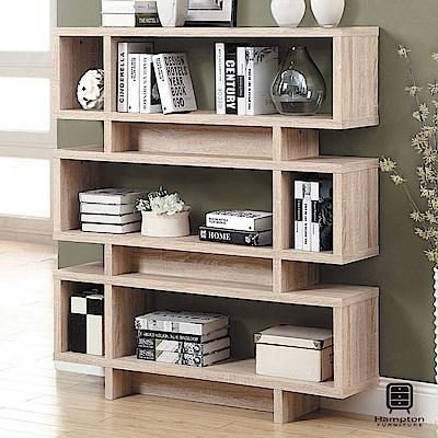 漢妮Hampton尼爾系列摩登書櫃(淺木色)-120x29.5x138.5cm