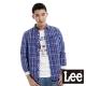 Lee 長袖襯衫 標準休閒襯衫-男款(藍)