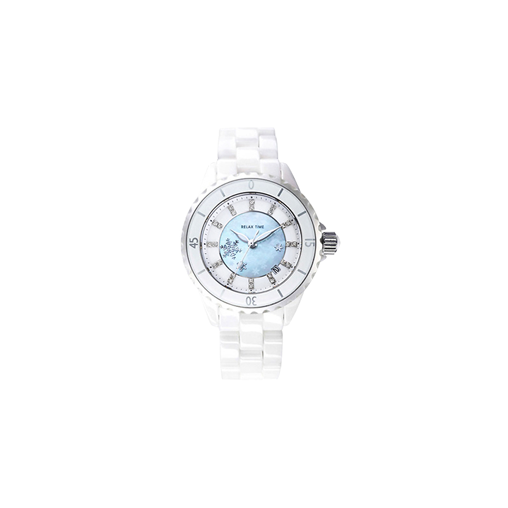 Relax Time Sweet 雪天使陶瓷腕錶-珍珠貝/32mm
