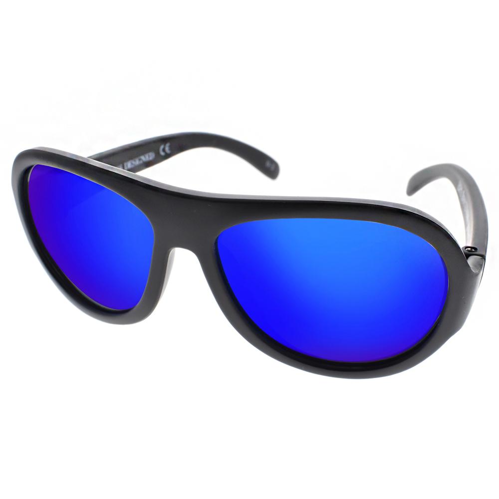 SHADEZ兒童太陽眼鏡 無毒可彎曲/黑-藍水銀#SH15SHZ0 C01