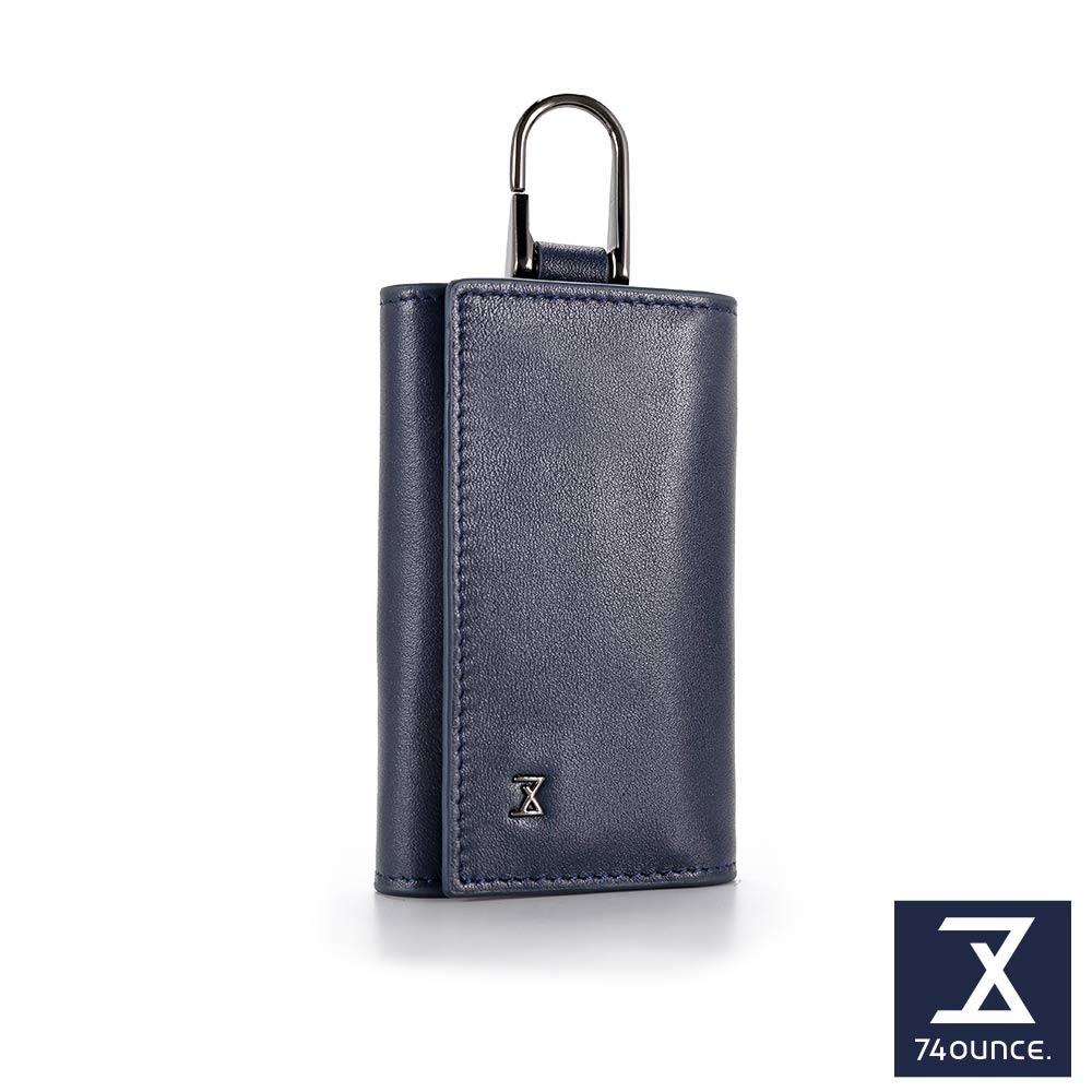 74盎司 Plain 真皮鑰匙包[N-567]藍