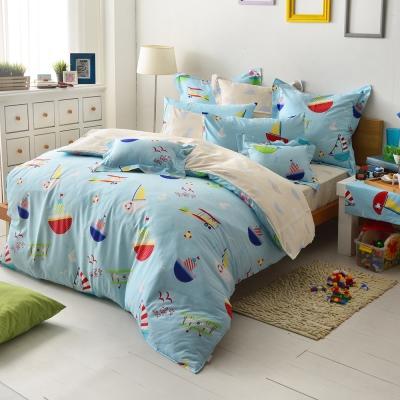 義大利Fancy Belle 海洋夢想 雙人四件式防蹣抗菌舖棉兩用被床包組