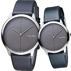 Calvin Klein大ck簡約對錶(K3M211C3+K3M221C3)