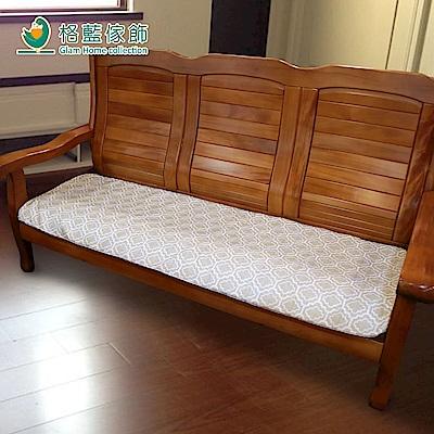 格藍傢飾 雅室緹花坐墊套-咖3人含內坐墊-2款任選