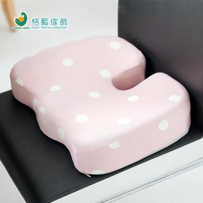 格藍傢飾 水玉涼感舒壓美臀墊-草莓粉
