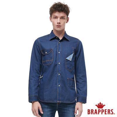 BRAPPERS 男款 牛仔長袖襯衫-藍