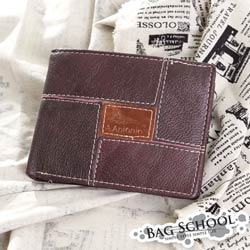 DF BAG SCHOOL皮夾 - 賽路克軟質感復古皮革短夾