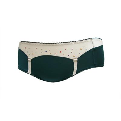 【瑪登瑪朵】亮點Bra 低腰平口棉褲(寶石綠)