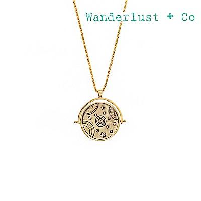 Wanderlust+Co 澳洲時尚品牌 宇宙銀河項鍊 金色