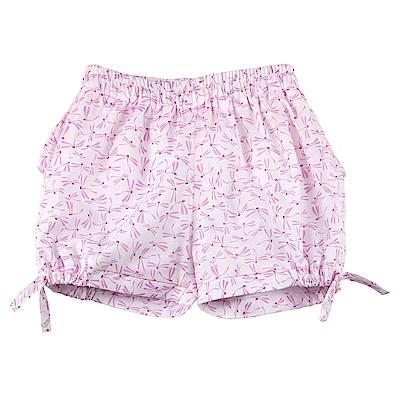 愛的世界 純棉鬆緊帶蜻蜓印花造型短褲/6M~2歲