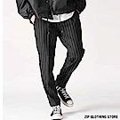 格紋直條紋錐形休閒褲(4色) ZIP日本男裝