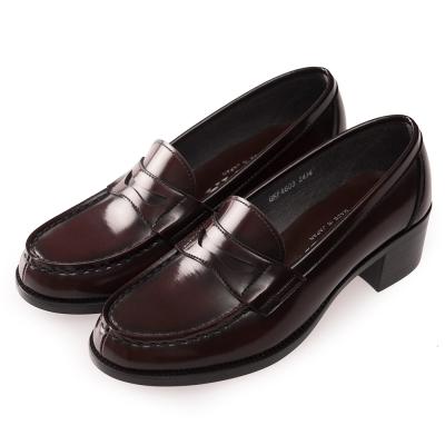 (女)日本 HARUTA 經典4603粗跟學生鞋-咖啡色