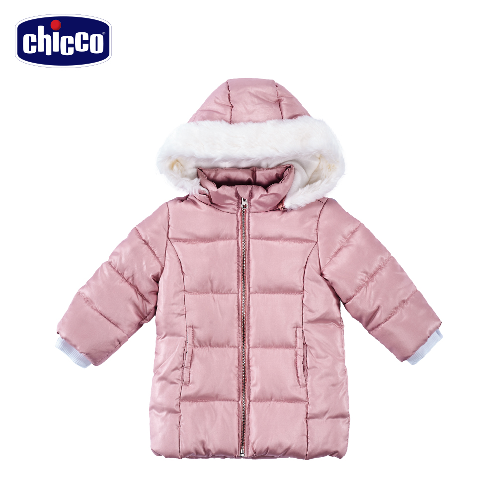 chicco舖棉連帽外套-粉(12個月-4歲)