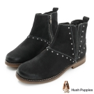 Hush Puppies 時尚鉚釘沙漠靴-黑色