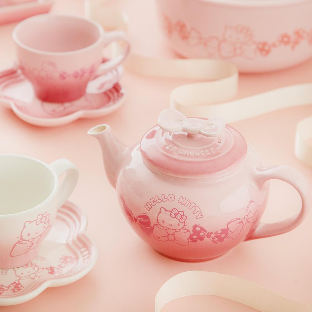 LE CREUSET x Hello Kitty瓷器中式茶壺(櫻花粉)