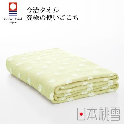 日本桃雪今治小圓點紗布浴巾(柑橘黃)