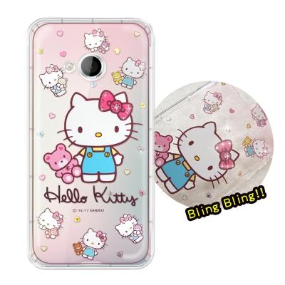 正版凱蒂貓 HTC U Play 5.2吋 夢幻童話 彩鑽氣墊手機殼(愛戀小熊)