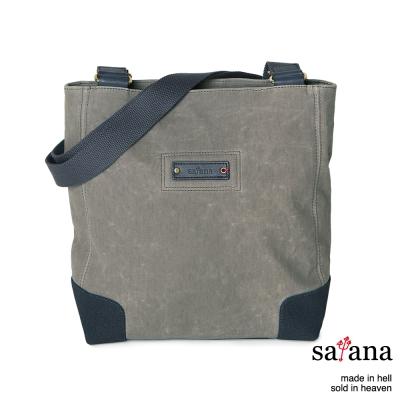satana - 雙面肩背包 - 灰色