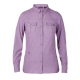 【Berghaus 貝豪斯】女款銀離子透氣抗UV長袖襯衫S05F02-紫 product thumbnail 1