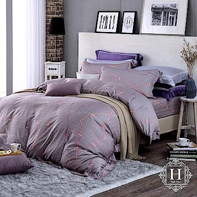 HOYA H Series安德魯 特大四件式400織匹馬棉被套床包組-配加大被套