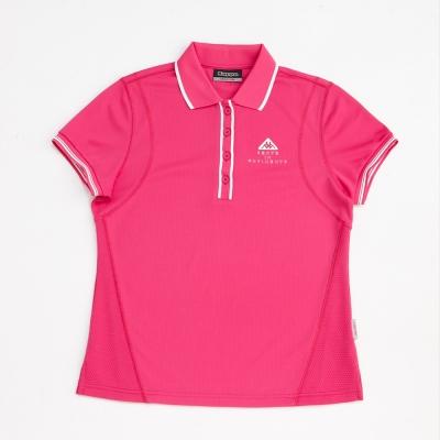 KAPPA義大利 女吸濕排汗速乾短袖POLO衫-櫻桃紅