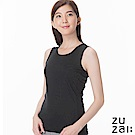 zuzai 自在發熱衣歸真系列女無重力暖搭無袖衣-黑色