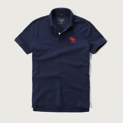 AF a&f Abercrombie & Fitch 短袖 POLO 深藍 193