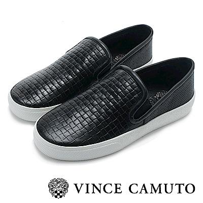 Vince Camuto 黑白極簡率性平底懶人鞋-黑色
