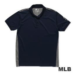 MLB-紐約洋基隊修身撞色快排POLO衫-深藍(男)