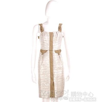 SCHUMACHER 銀/卡其色洋裝