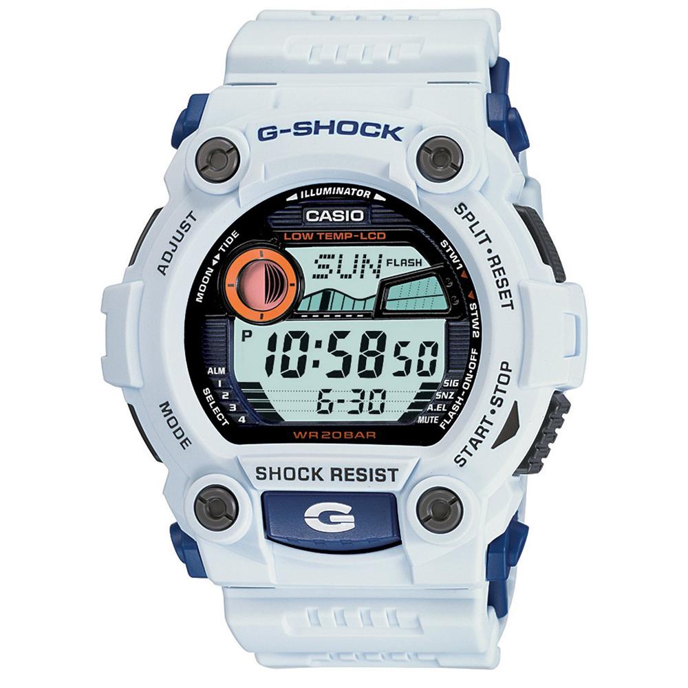 G-SHOCK 超時震撼時空月齡潮汐休閒錶(G-7900A-7)-白/52.4mm