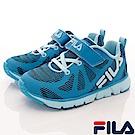 FILA頂級童鞋 義式MD慢跑款FO24S-333藍色(中小童段)