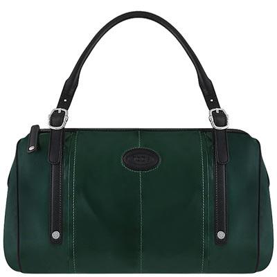 TODS 深綠色亮面漆皮G-BAG波士頓包-大型