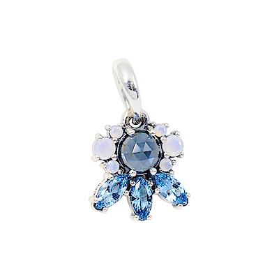 Pandora 潘朵拉 閃耀冰晶藍水晶 垂墜純銀墜飾 項鍊墜飾