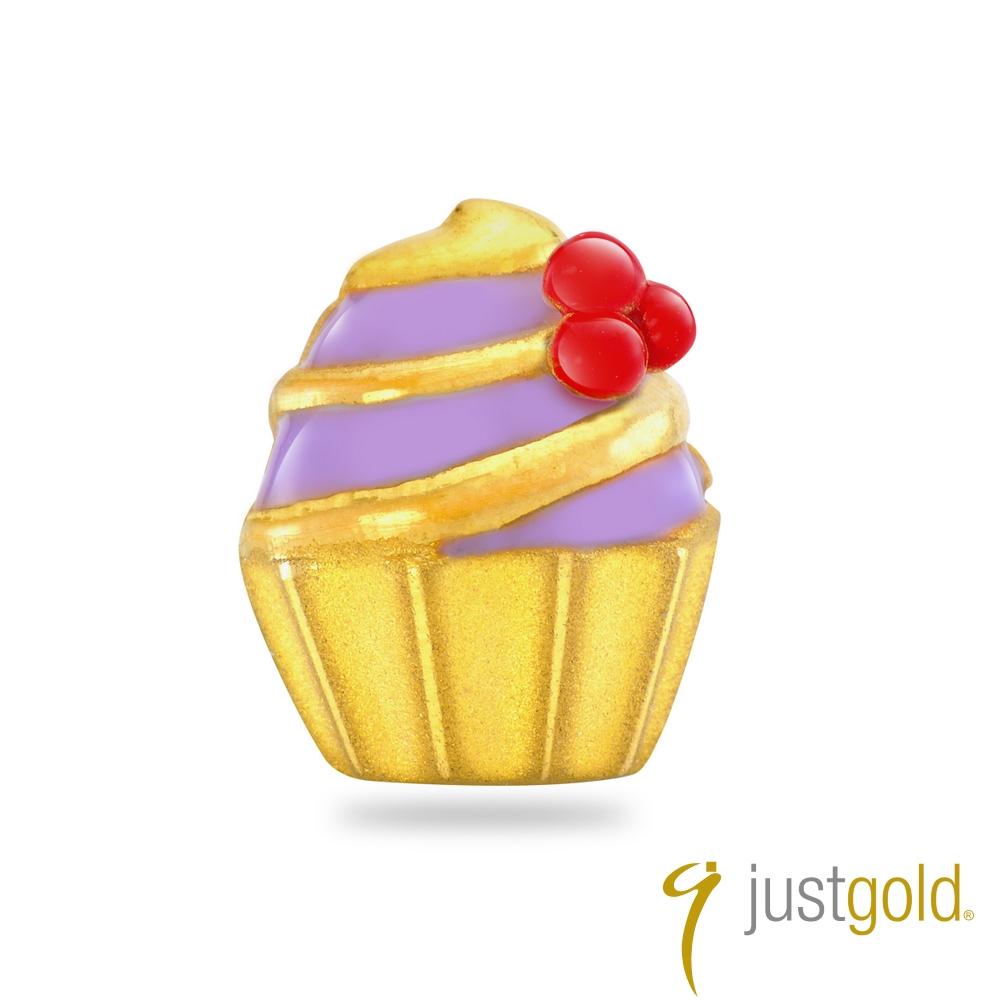 鎮金店Just Gold 黃金單耳耳環 繽紛派對 杯子蛋糕
