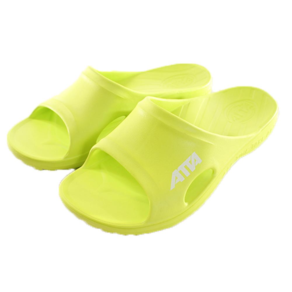 成人減壓足弓運動風拖鞋 黃綠 sd0073魔法Baby