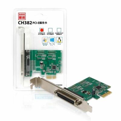 Upmost PCI-E專用1Port印表機Parallel擴充卡 CH382-1P